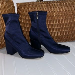 Marc Fisher Round Toe Block Heel Boots